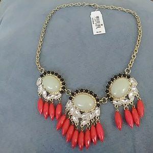 Large rhinestone statement necklace